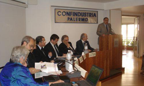 Cerimonia di presentazione ufficiale della Fondazione Candela nell'aula della Confindustria di Palermo